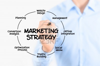 Young-businessman-drawing-marketing-strategy-concept-isolated-on-white